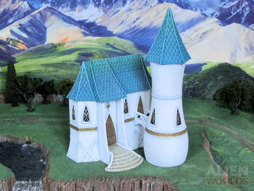 3DAlienWorlds || High Elf House & Tower ( Fantasy High Elf ) || 3d