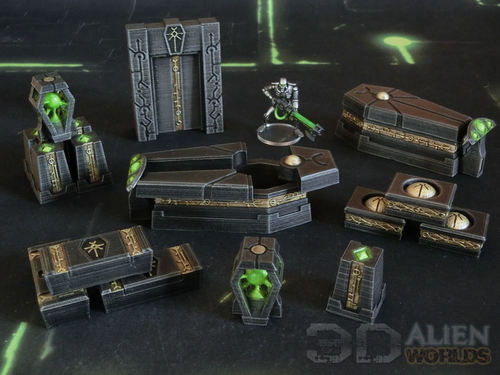 photo regarding Printable Terrain identified as 3DAlienWorlds Necrontyr KillTeam Arena ( Sci-Fi Necrontyr