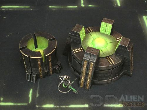 3DAlienWorlds || Necrontyr Power Generator Set ( Sci-Fi